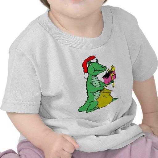 Cocodrilo del navidad camiseta