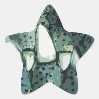 Cocodrilo del Nilo Pegatinas Forma De Estrellaes