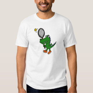 Cocodrilo divertido del AL que juega a tenis Camisas