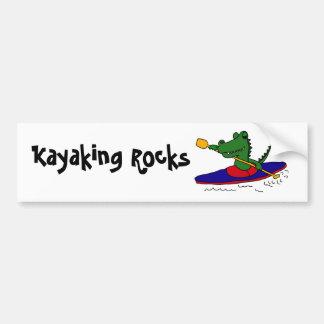 Cocodrilo divertido del CE Kayaking Pegatina Para Auto