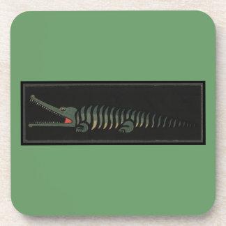 Cocodrilo - ejemplo de libro colorido anticuario posavaso