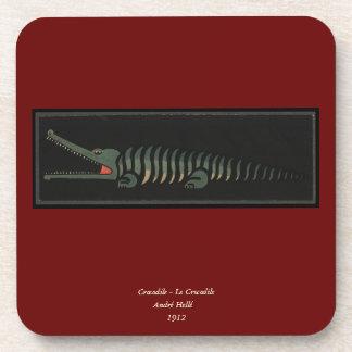 Cocodrilo - ejemplo de libro colorido anticuario posavasos