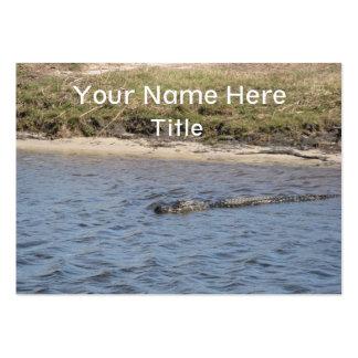 Cocodrilo en la tarjeta de visita del agua