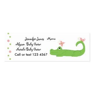 Cocodrilo femenino tarjetas de visita
