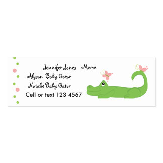 Cocodrilo femenino tarjetas de visita mini