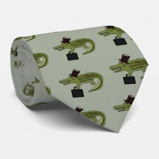 Cocodrilo fresco corbatas