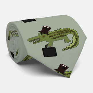 Cocodrilo fresco corbatas personalizadas