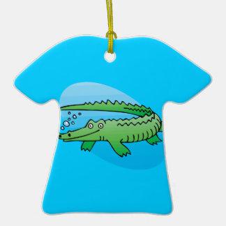 cocodrilo lindo de la natación adorno de navidad