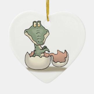 cocodrilo lindo del bebé de la trama ornaments para arbol de navidad