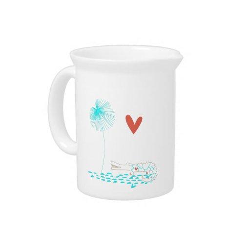 Cocodrilo minimalista con la flor del corazón y de jarrón