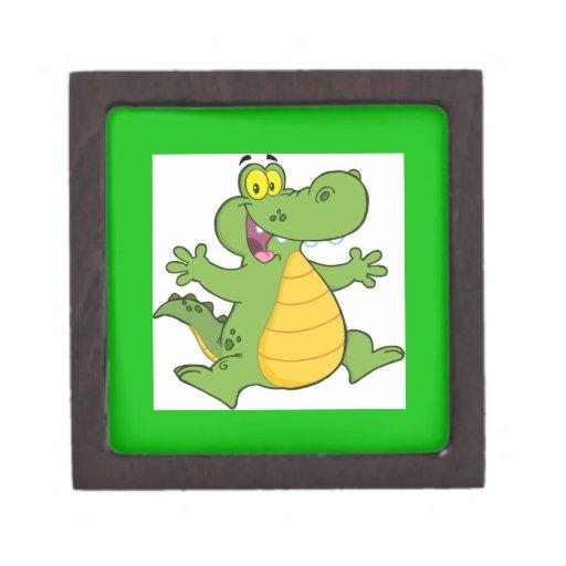 Cocodrilo o cocodrilo feliz caja de recuerdo de calidad