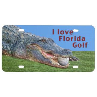 Cocodrilo, pelota de golf, golf de la Florida Placa De Matrícula