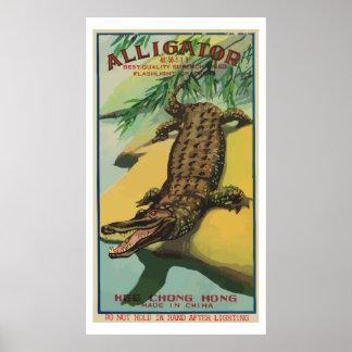 Cocodrilo (petardo chino del vintage) poster