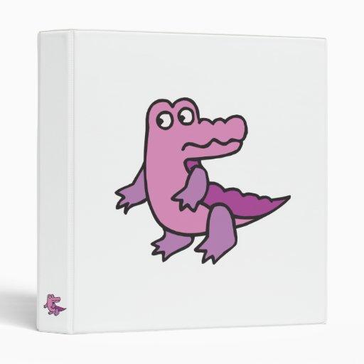 cocodrilo púrpura lindo