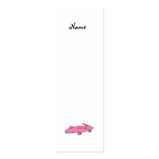 Cocodrilo rosado tarjeta de visita