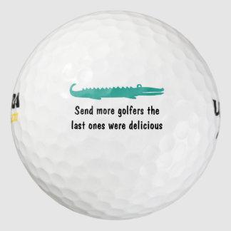 Cocodrilo salvaje divertido pack de pelotas de golf