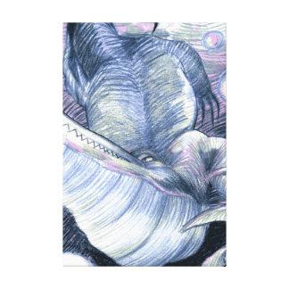 Cocodrilo subacuático impresión de lienzo