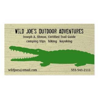 Cocodrilo verde tarjetas de visita