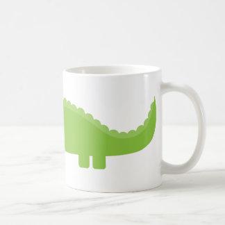 Cocodrilo verde taza de café