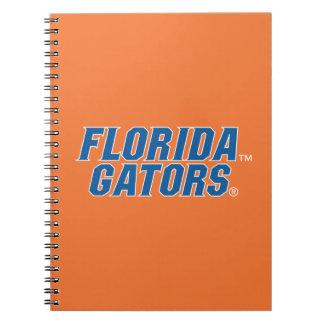 Cocodrilos de la Florida - azul y blanco Libro De Apuntes Con Espiral