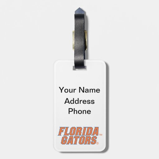 Cocodrilos de la Florida - naranja y azul Etiqueta De Maleta
