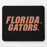 Cocodrilos de la Florida - naranja y azul Tapetes De Ratón