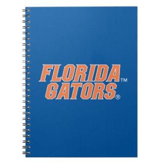 Cocodrilos de la Florida - naranja y blanco Cuadernos