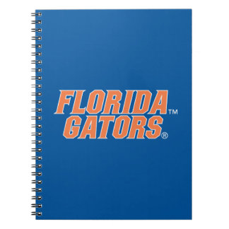Cocodrilos de la Florida - naranja y blanco Libro De Apuntes Con Espiral