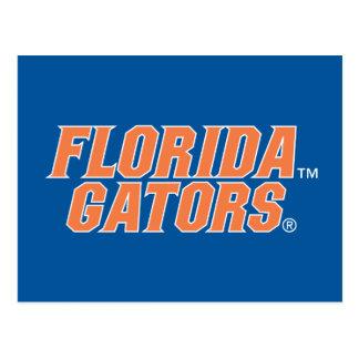 Cocodrilos de la Florida - naranja y blanco Postal