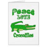 Cocodrilos del amor de la paz felicitación