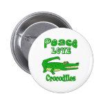Cocodrilos del amor de la paz pin