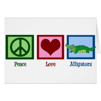 Cocodrilos del amor de la paz tarjeta