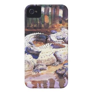 Cocodrilos fangosos de John Singer Sargent iPhone 4 Case-Mate Carcasas