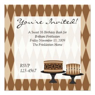 Cocolate Cakes Invitations