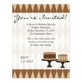 Cocolate Cakes Personalized Announcements