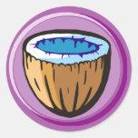 Coconut 1 classic round sticker