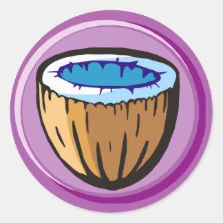 Coconut 1 round stickers