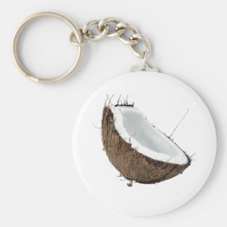 Coconut Basic Round Button Keychain
