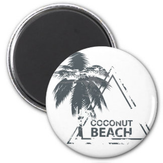 Coconut Beach rubber stamp. Magnet