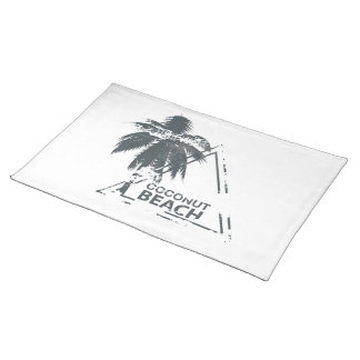 Coconut Beach rubber stamp. Placemats