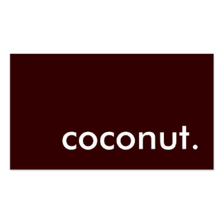 coconut. business card