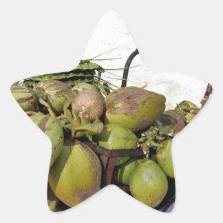 coconut business star sticker