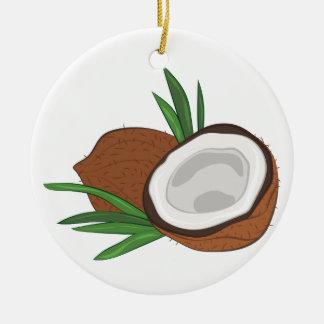 Coconut Ceramic Ornament