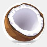 Coconut Classic Round Sticker