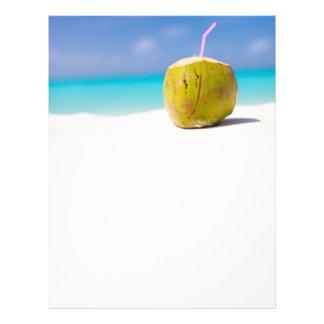 Coconut cocktail on the beach flyer