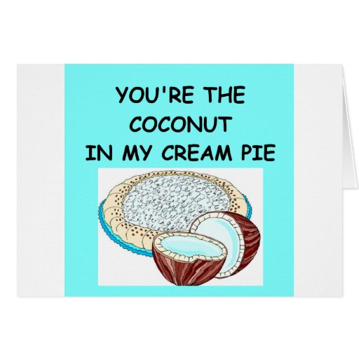 coconut cream pie lover greeting card
