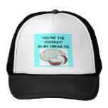 coconut cream pie lover hats