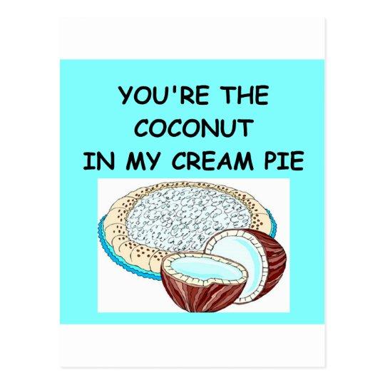 coconut cream pie lover postcard