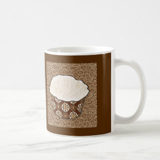 Coconut Cupcake, Japanese Swirl Background Coffee Mug