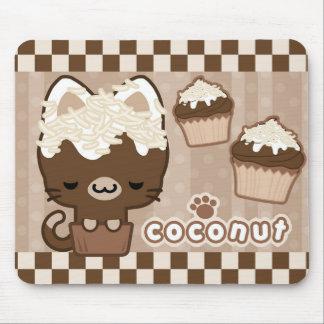 Coconut Cupcake Kitty Mousepad
